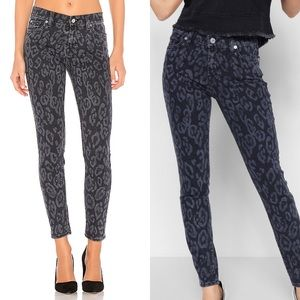 7 For All Mankind The Ankle Skinny Laser Cheetah
